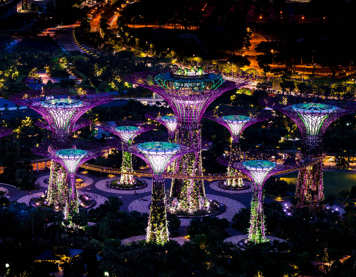 Singapour : gardens by the bay - Supertrees - photo by Mac Qin